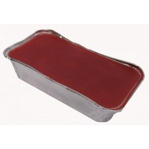 Gomma lacca rosso intenso vaschetta da 0,5 kg
