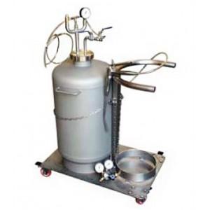 Impianto carrellato per la colmatura delle barriques con GAS, in modo MANUALE
