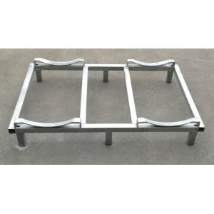 Porta barrique di base in ferro zincato