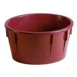 Mastello ovale in plastica alimentare lt. 85 color vinaccia