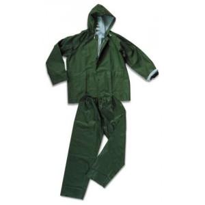 Giacca e pantalone impermeabile verde