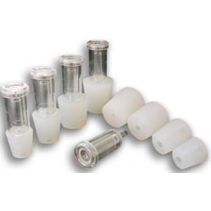Tappo al silicone forato per barriques 55x47x50