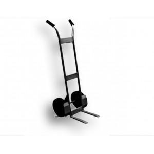 Carrello zincato ruote pneumatiche con forche