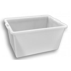 Mastello rettangolare in plastica alimentare lt.220 bianco
