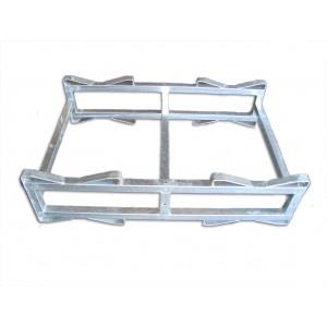 Porta barrique zincato per muletto elettrico