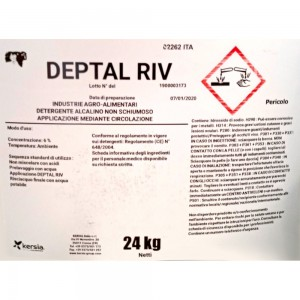 Detergente alcalino Deptal Riv 24 kg