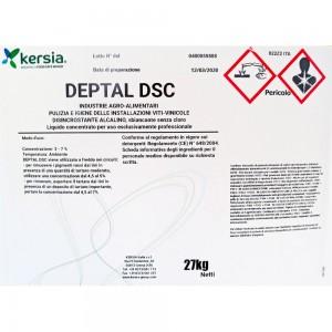 Detergente alcalino senza cloro Deptal Dsc 27 kg