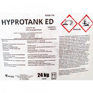 Detergente alcal/clorinato Hyprotank Ed 24 kg