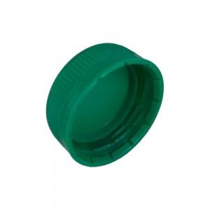 Tappo plastica verde per bottiglia da 250 ml