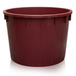 Mastello rotondo in plastica alimentare lt. 500 color vinaccia